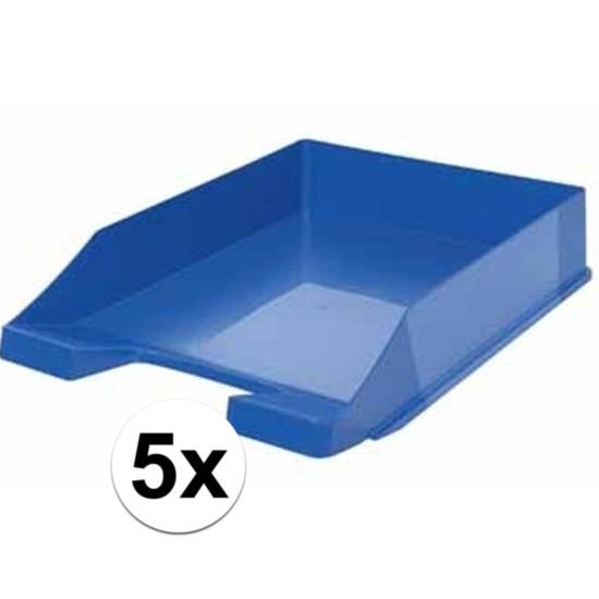 Postbakjeje blauw a4 formaat 5 stuks