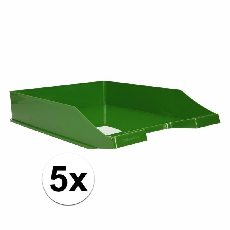 Postbakjeje groen a4 formaat 5 stuks