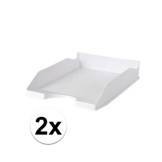 2 stuks postbakjejes wit a4 formaat