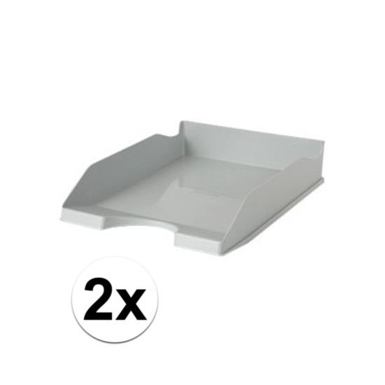 2 stuks postbakjejes grijs a4 formaat