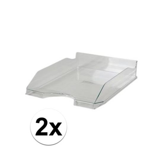 2 stuks postbakjejes transparant a4 formaat