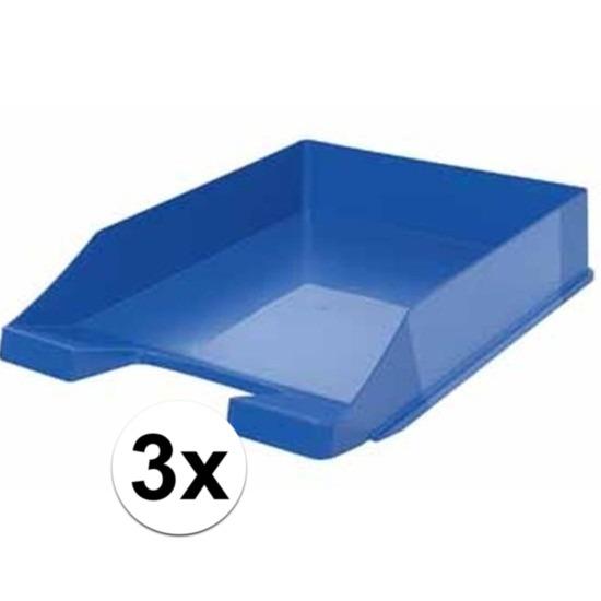 Postbakjejes blauw a4 formaat 3 stuks