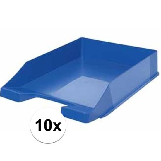 Postbakjejes blauw a4 formaat 10 stuks