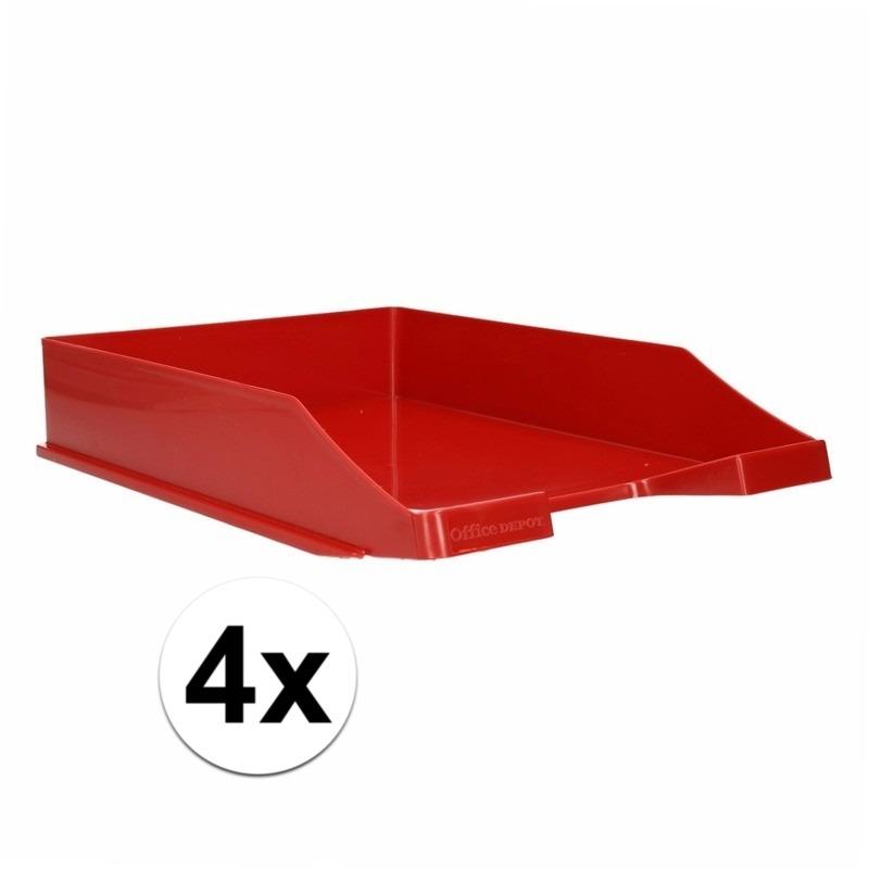 Postbakjejes rood a4 formaat 4 stuks
