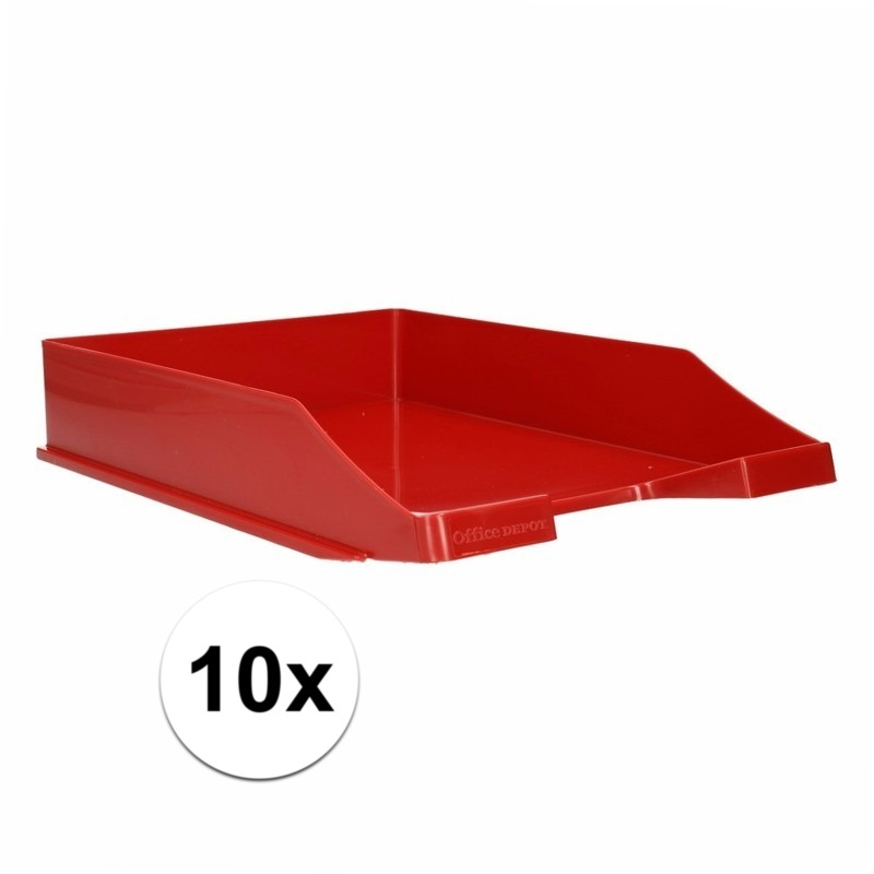 Postbakjejes rood a4 formaat 10 stuks