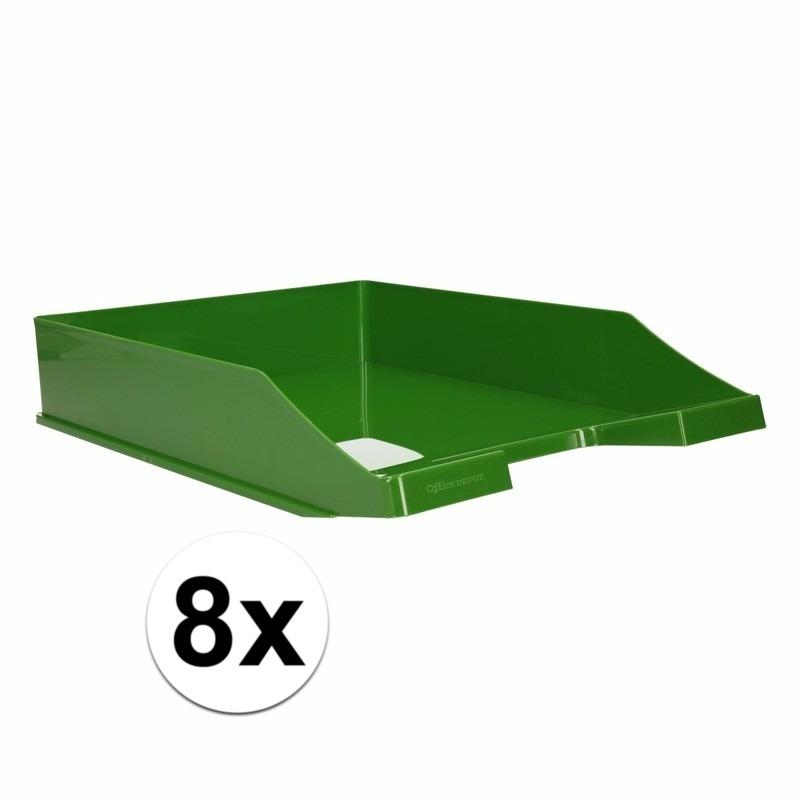 Postbakjejes groen a4 formaat 8 stuks