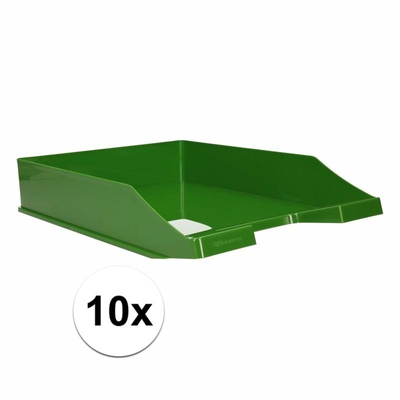 Postbakjejes groen a4 formaat 10 stuks