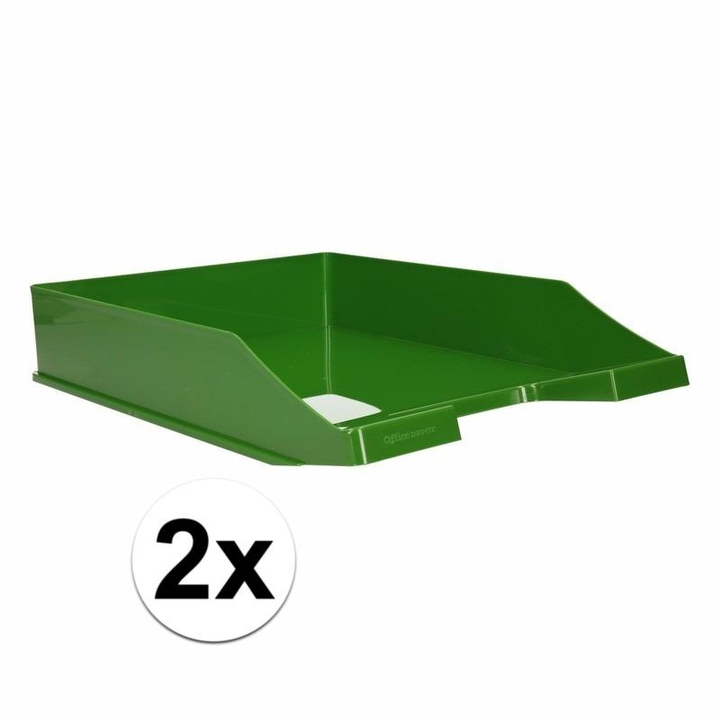 Postbakjejes groen a4 formaat 2 stuks