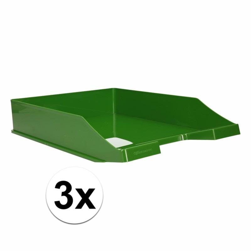 Postbakjejes groen a4 formaat 3 stuks