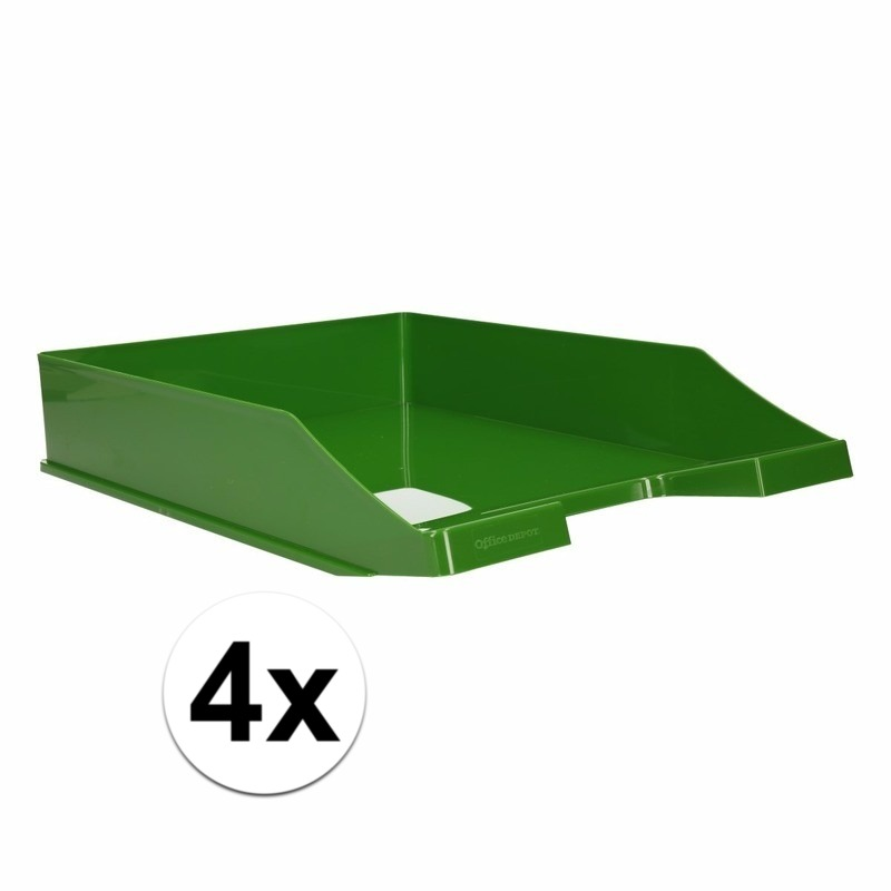 Postbakjejes groen a4 formaat 4 stuks