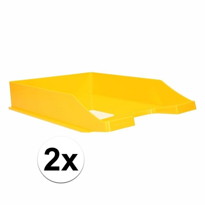 Postbakjejes geel a4 formaat 2 stuks
