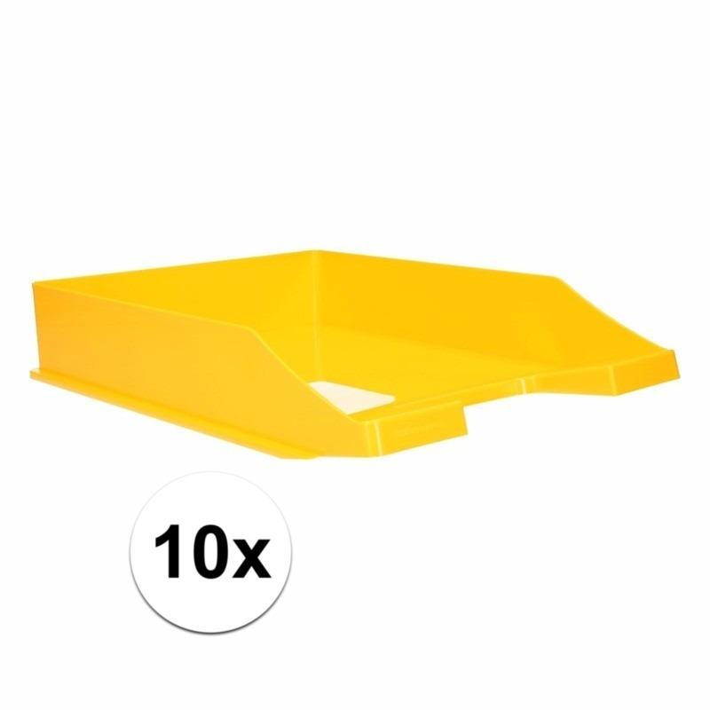 Postbakjejes geel a4 formaat 10 stuks