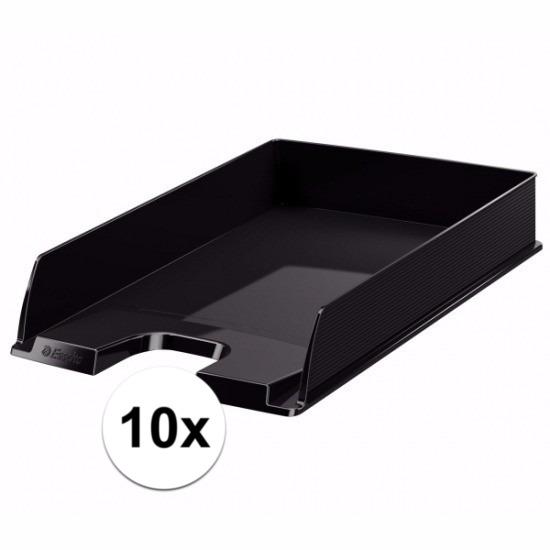 Postbakjejes zwart a4 formaat 10 stuks