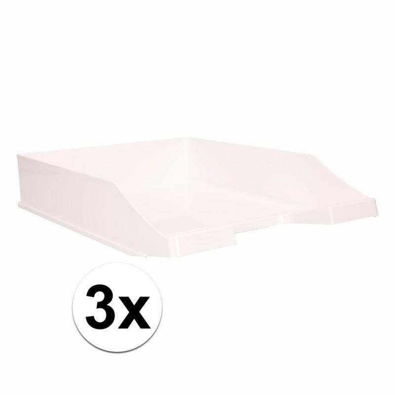 Postbakjejes wit a4 formaat 3 stuks