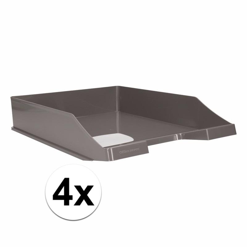 Postbakjejes grijs a4 formaat 4 stuks