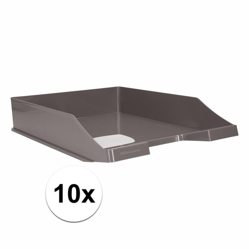 Postbakjejes grijs a4 formaat 10 stuks