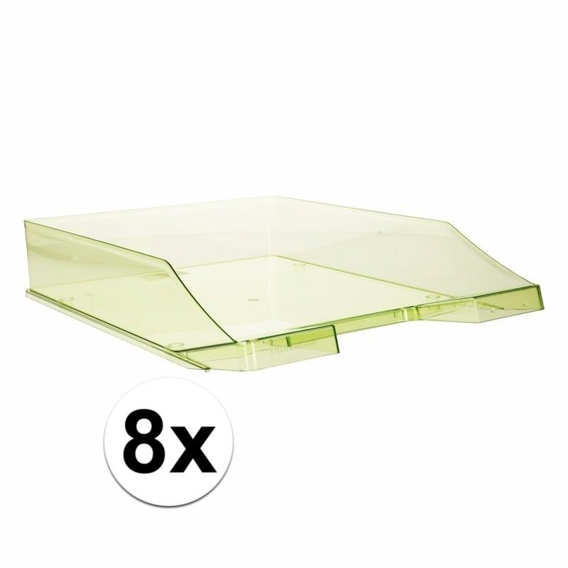 8 stuks postbakjejes transparant groen a4 formaat