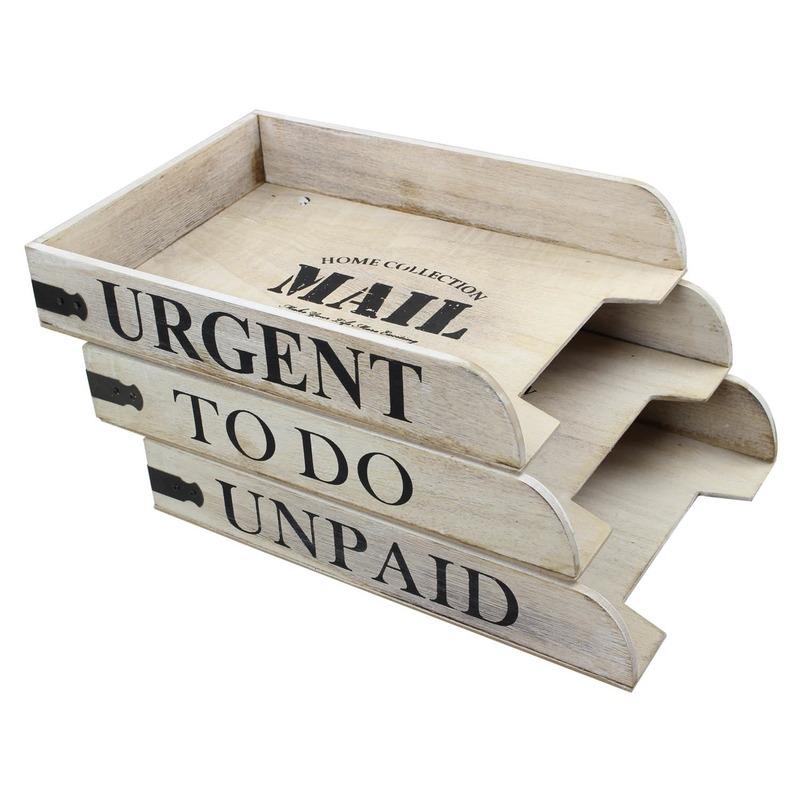 Postbakjeje hout met tekst urgent
