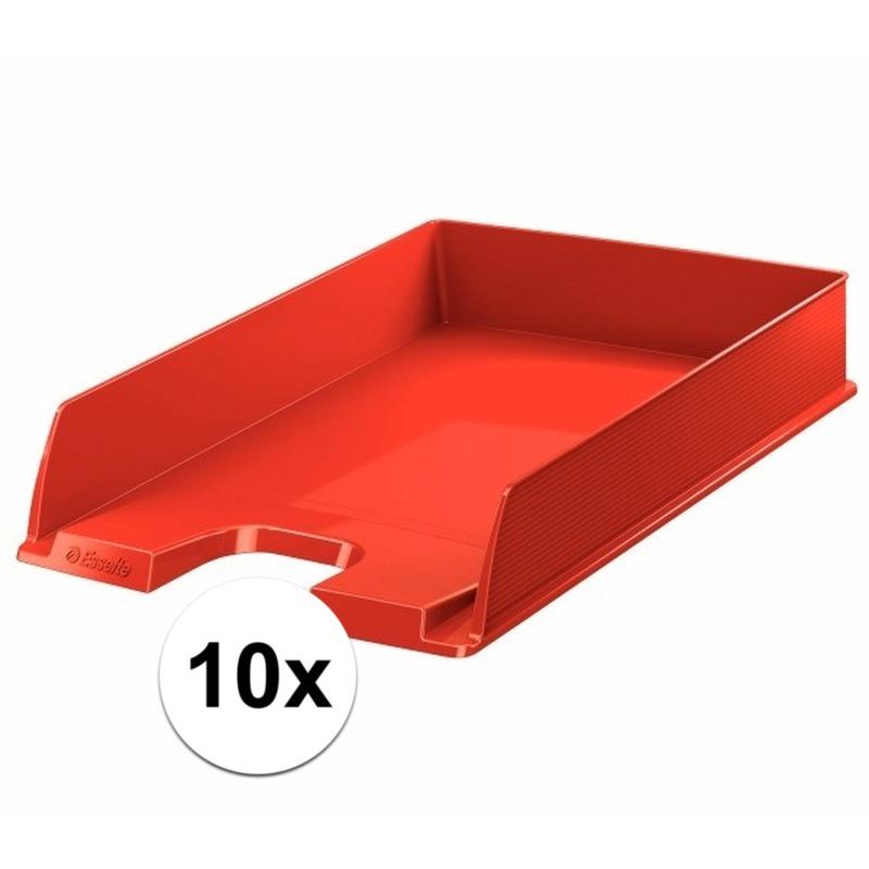 10 stuks postbakjejes rood a4 formaat esselte