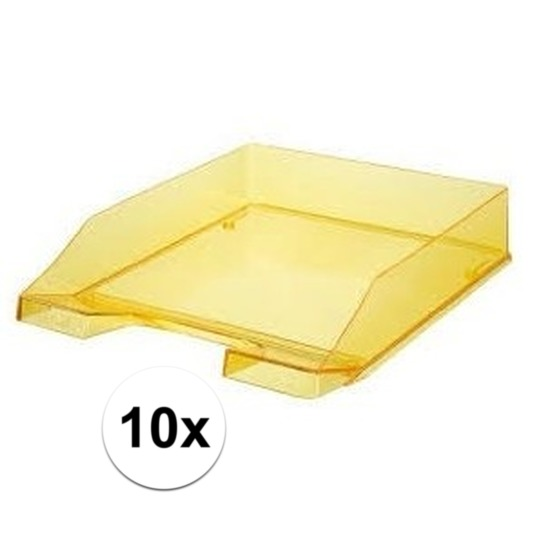10 stuks postbakjejes transparant geel a4 formaat han