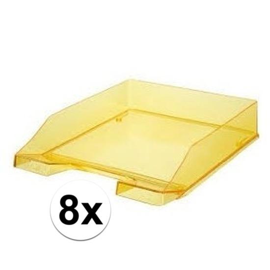 8 stuks postbakjejes transparant geel a4 formaat han