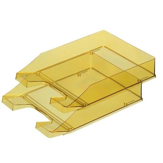 Postbakjeje transparant geel a4 formaat han