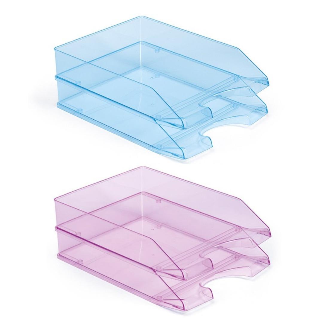Kantoor postbakjejes set van 10x stuks a4 formaat 2x kleuren