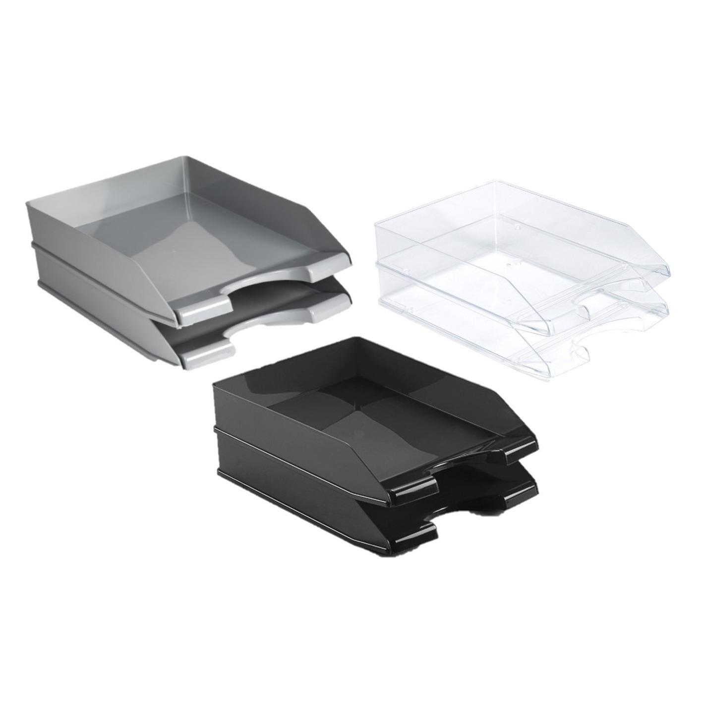 Kantoor postbakjejes set van 8x stuks a4 formaat 3x kleuren 10270151