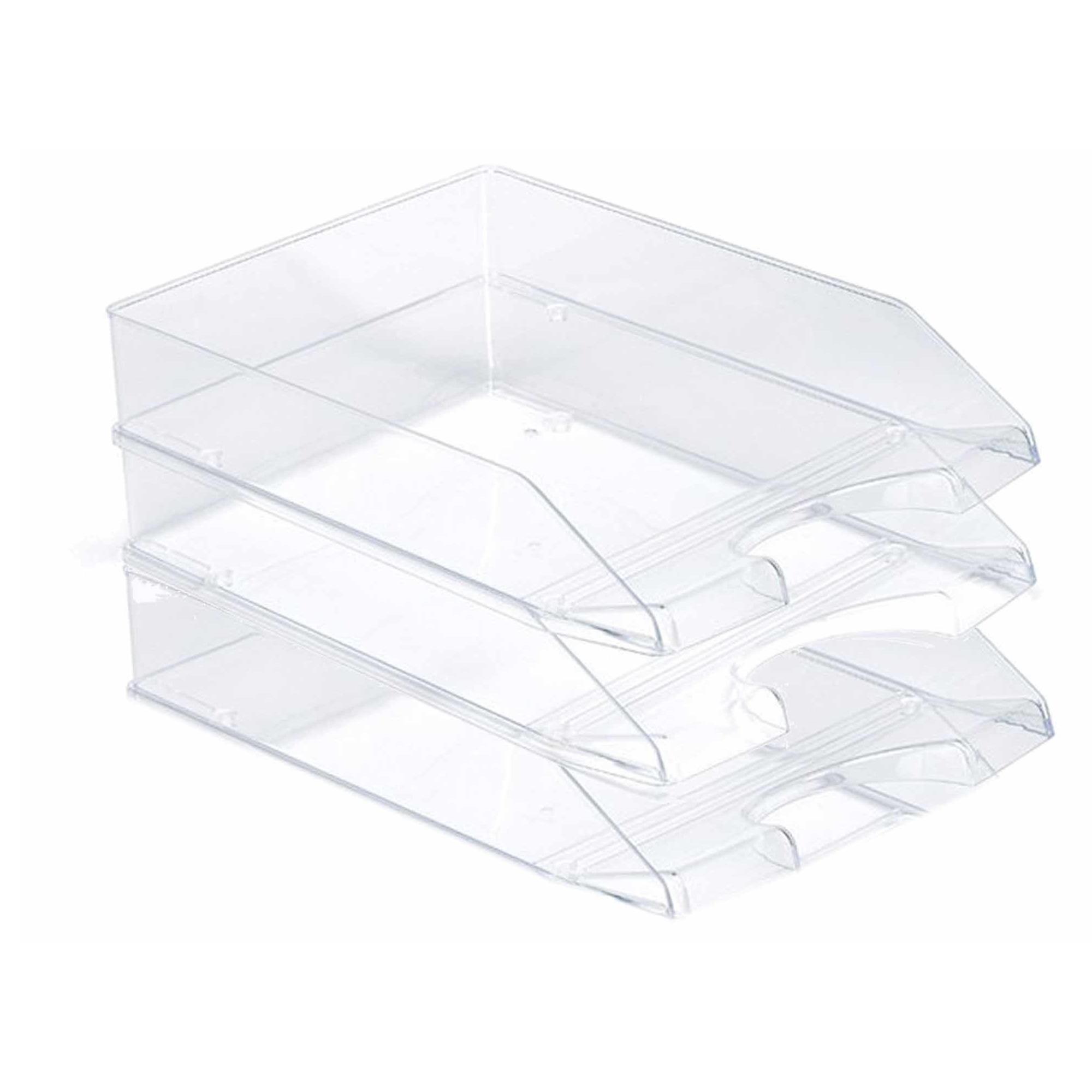 Pakket van 3x stuks postbakjejes transparant a4 formaat