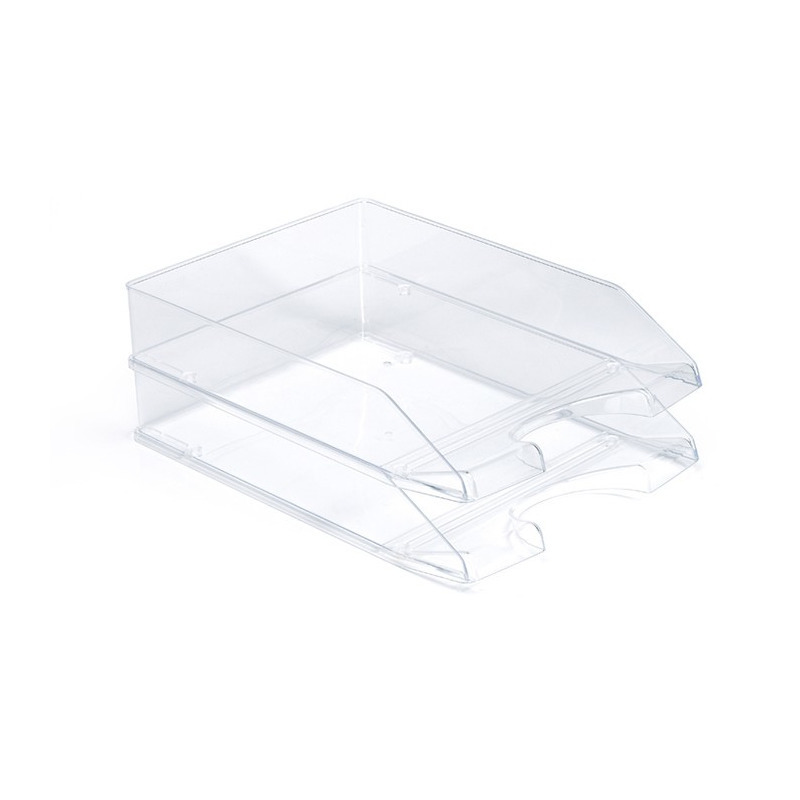 Pakket van 4x stuks postbakjejes transparant a4 formaat