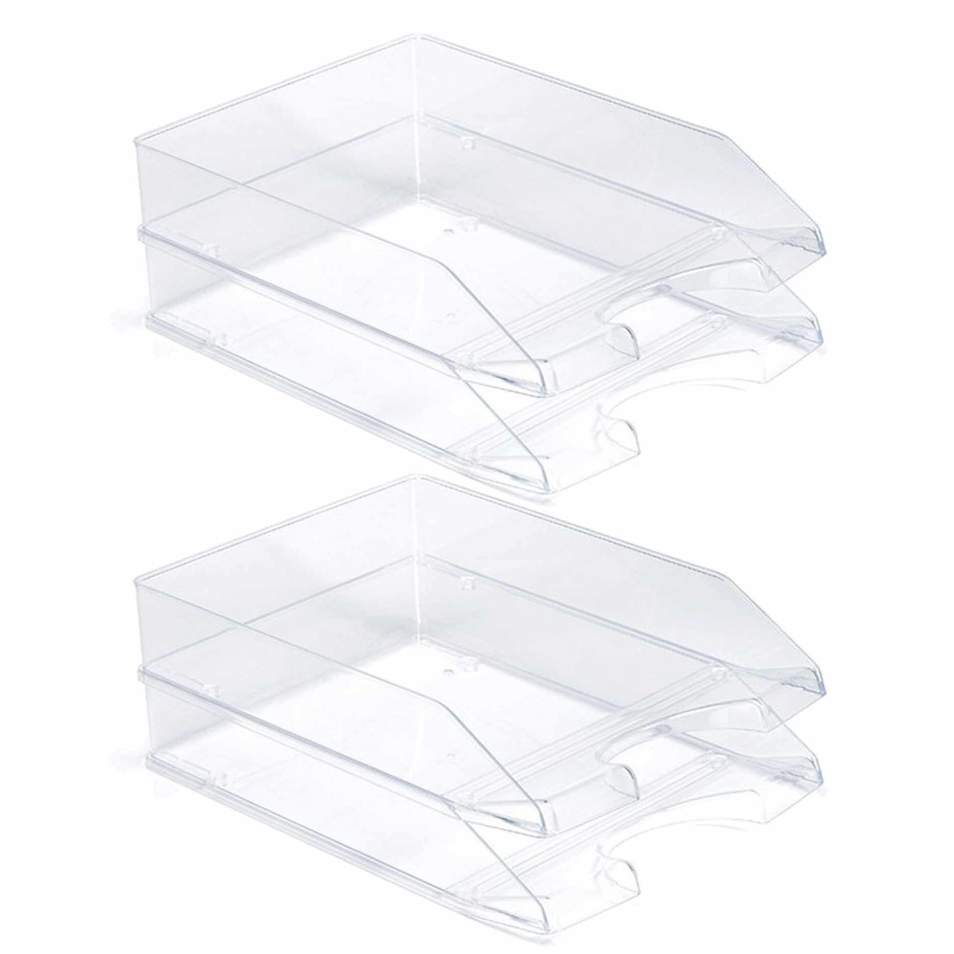 Pakket van 5x stuks postbakjejes transparant a4 formaat
